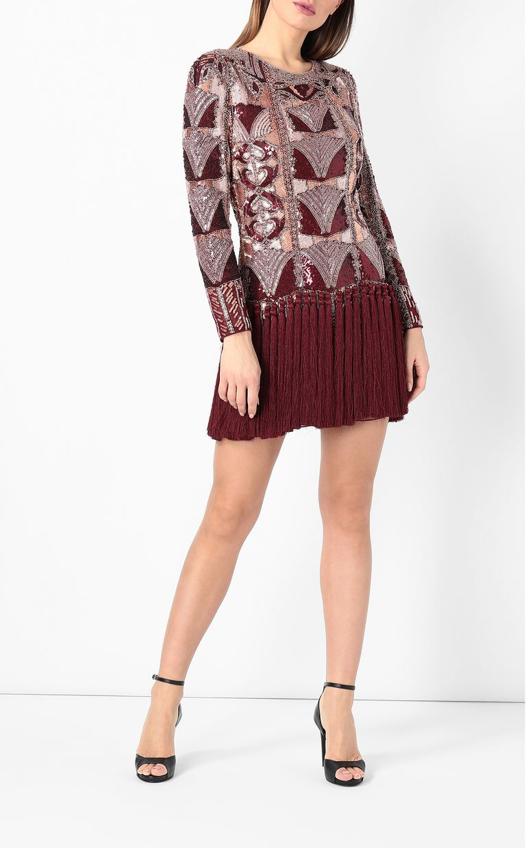 JUST CAVALLI Spangled dress with fringing Dress Woman r