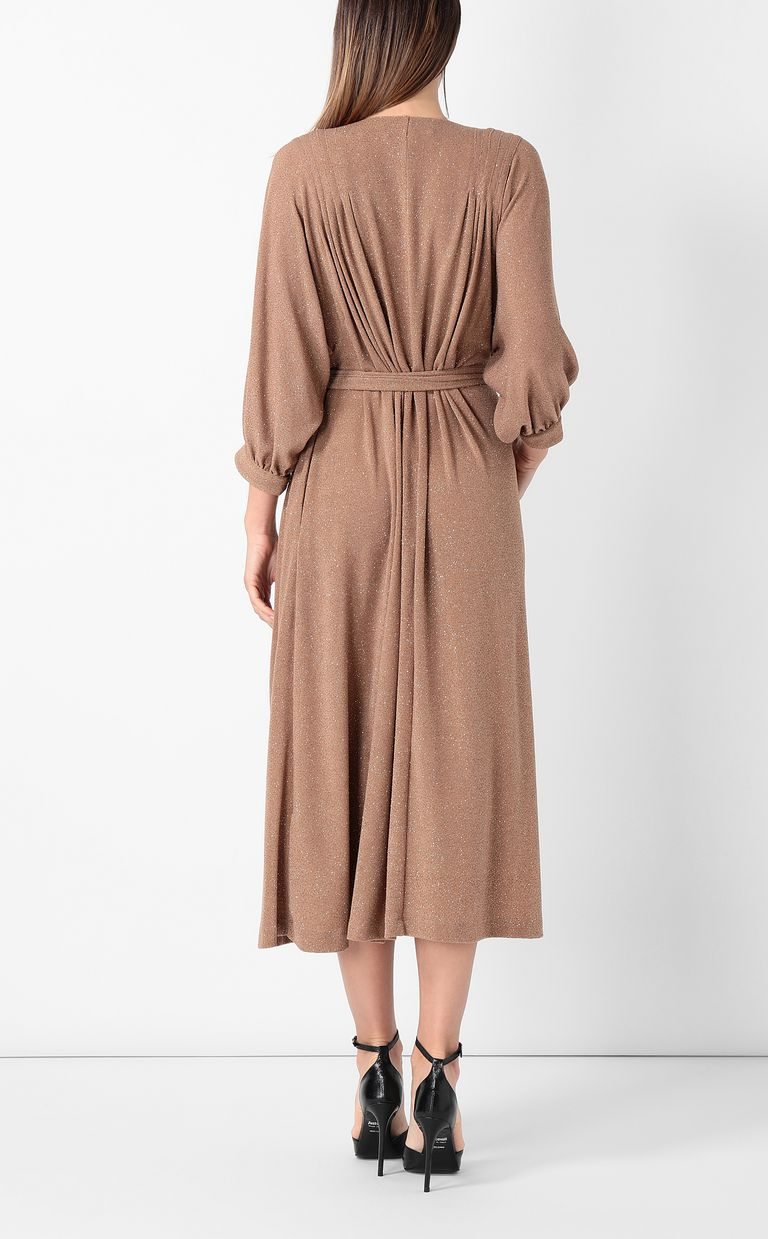 JUST CAVALLI Belted lurex dress Dress Woman a