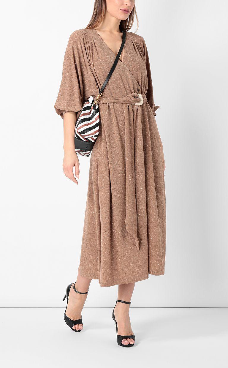 JUST CAVALLI Belted lurex dress Dress Woman d