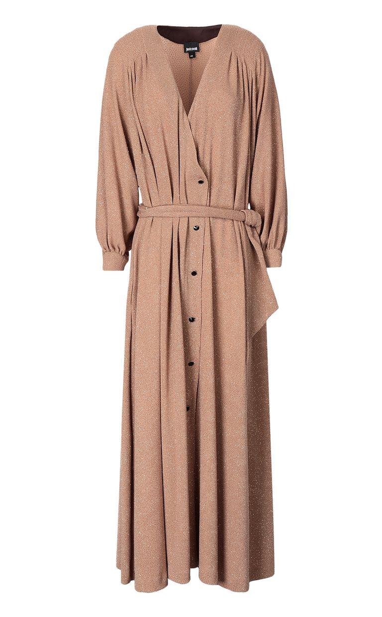 JUST CAVALLI Belted lurex dress Dress Woman f