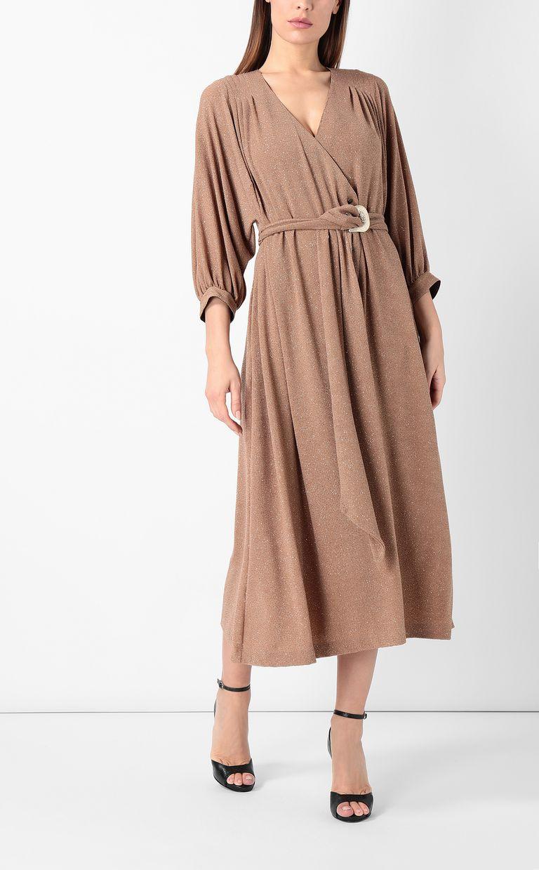 JUST CAVALLI Belted lurex dress Dress Woman r