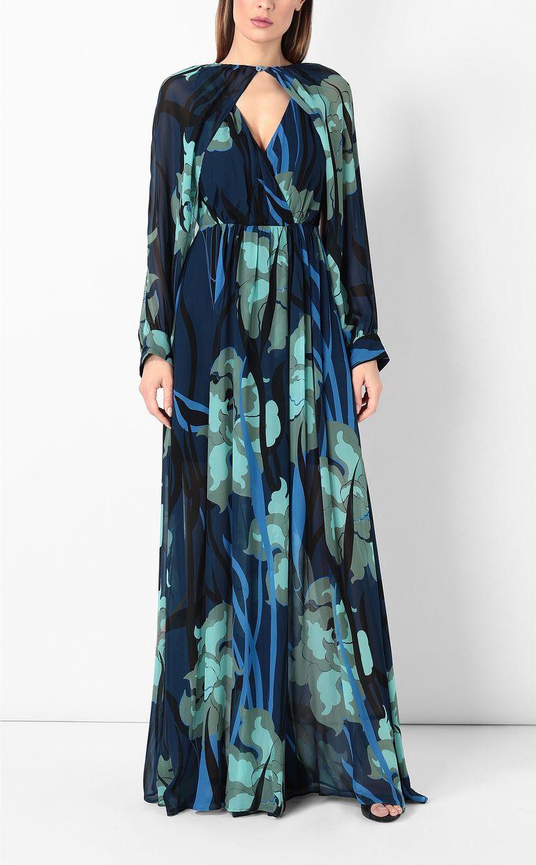 """JUST CAVALLI Full-length """"Hidden-Flowers"""" dress Dress Woman r"""