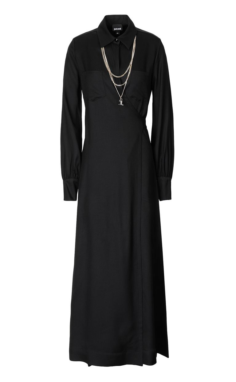 JUST CAVALLI Long dress with chain Dress Woman f
