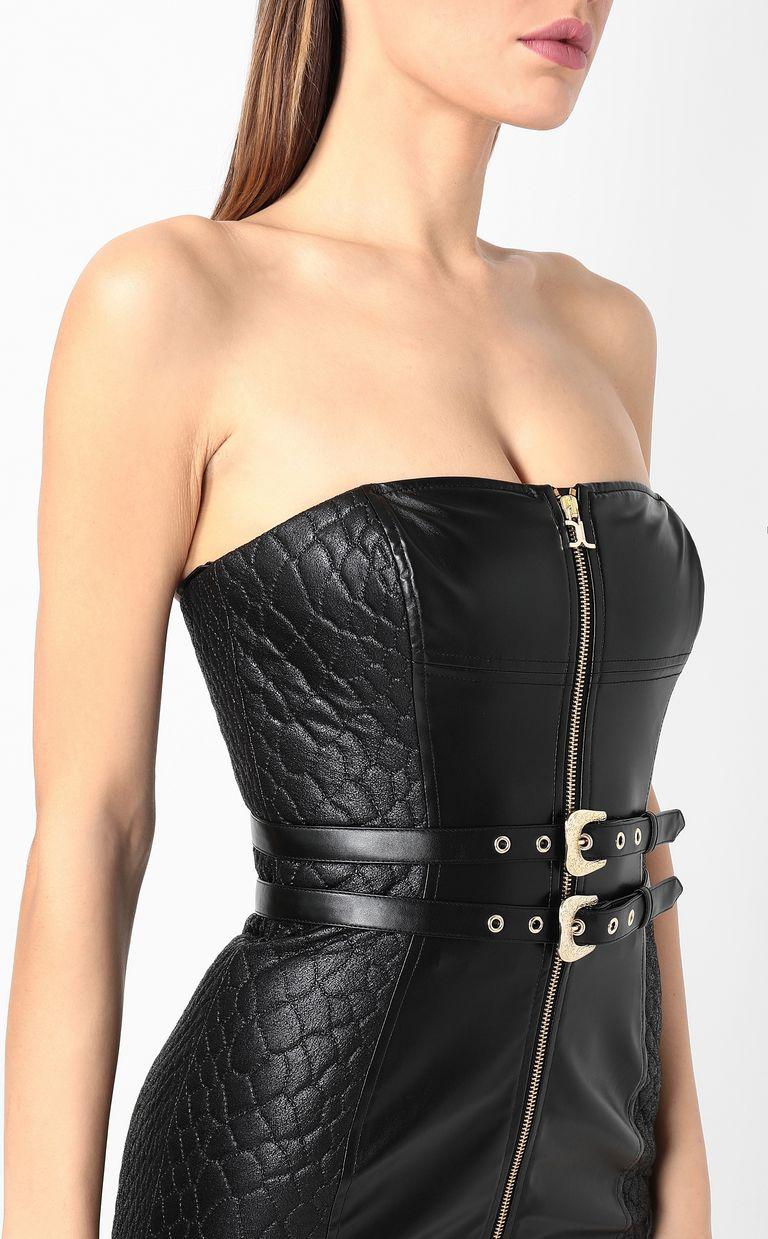 JUST CAVALLI Sheath dress in faux leather Dress Woman e
