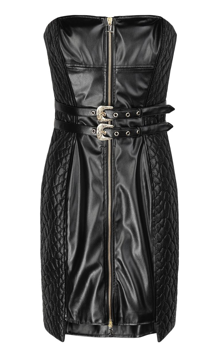 JUST CAVALLI Sheath dress in faux leather Dress Woman f