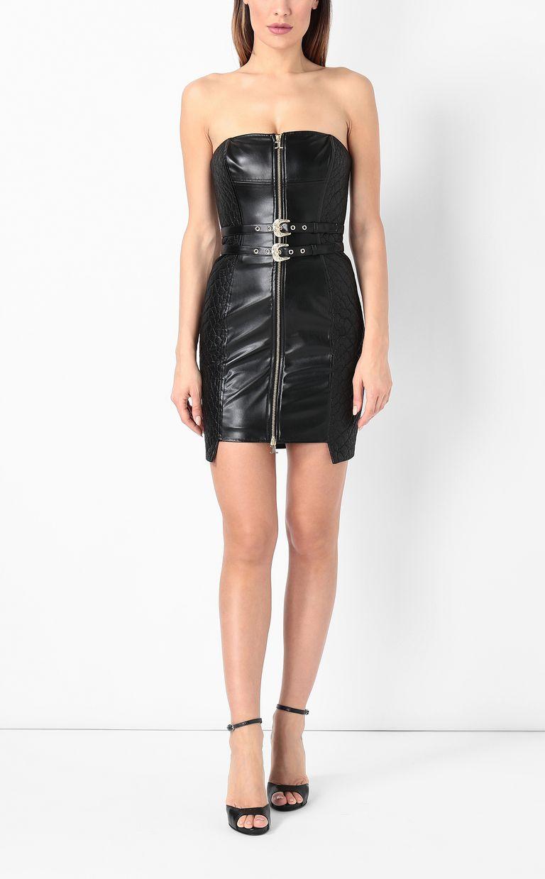 JUST CAVALLI Sheath dress in faux leather Dress Woman r