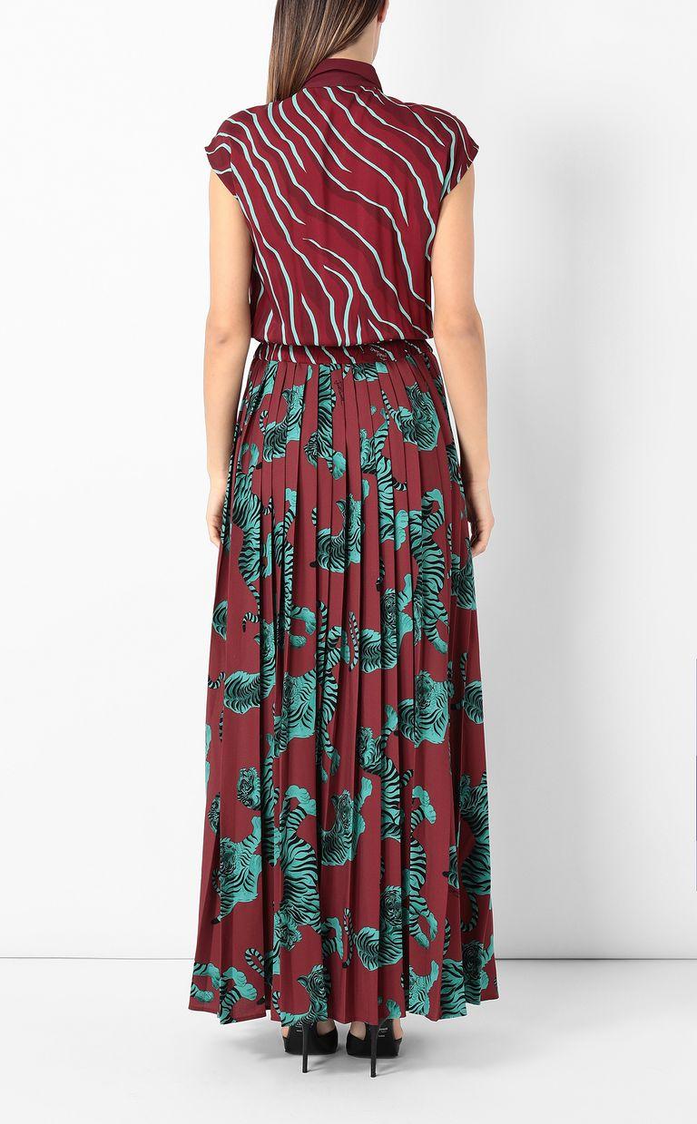 "JUST CAVALLI Long pleated ""Chasing-Tiger"" dress Long dress Woman a"