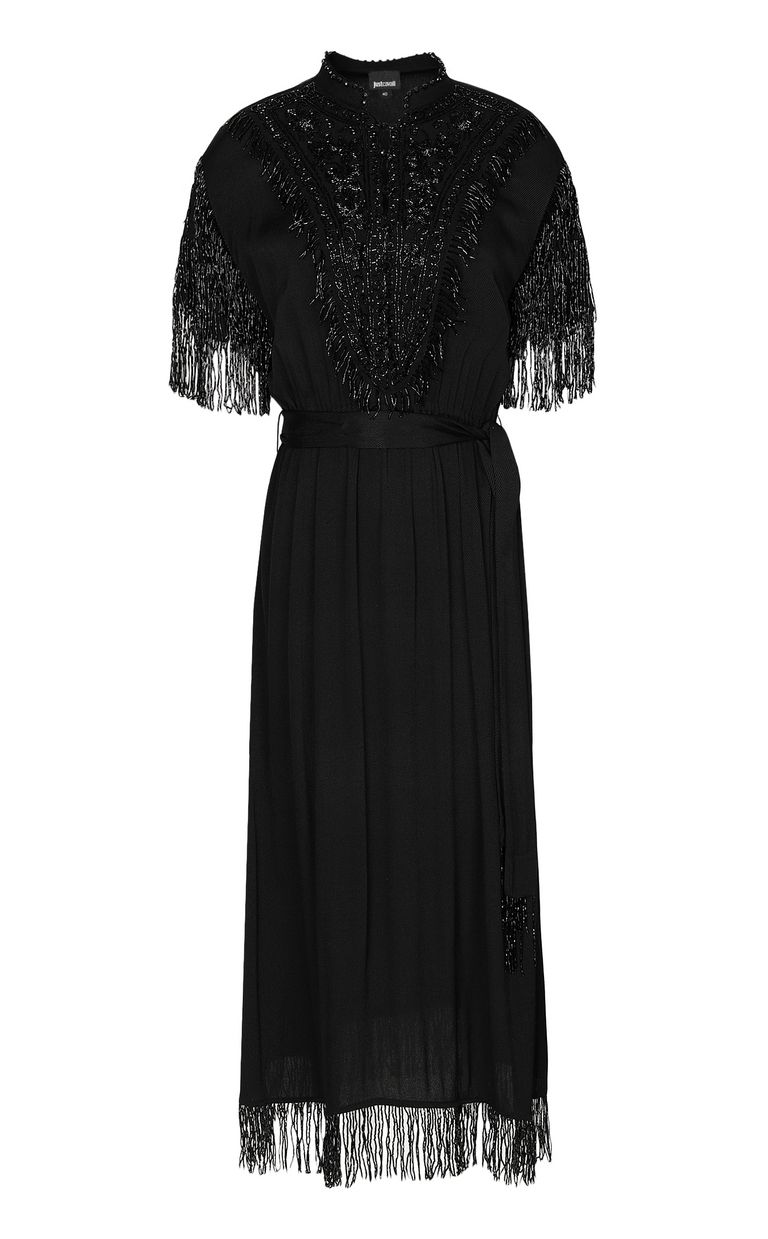 JUST CAVALLI Dress with diamanté embroidery Dress Woman f