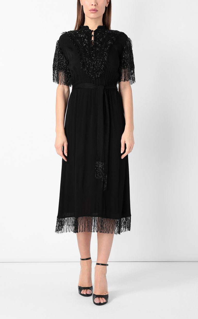 JUST CAVALLI Dress with diamanté embroidery Dress Woman r