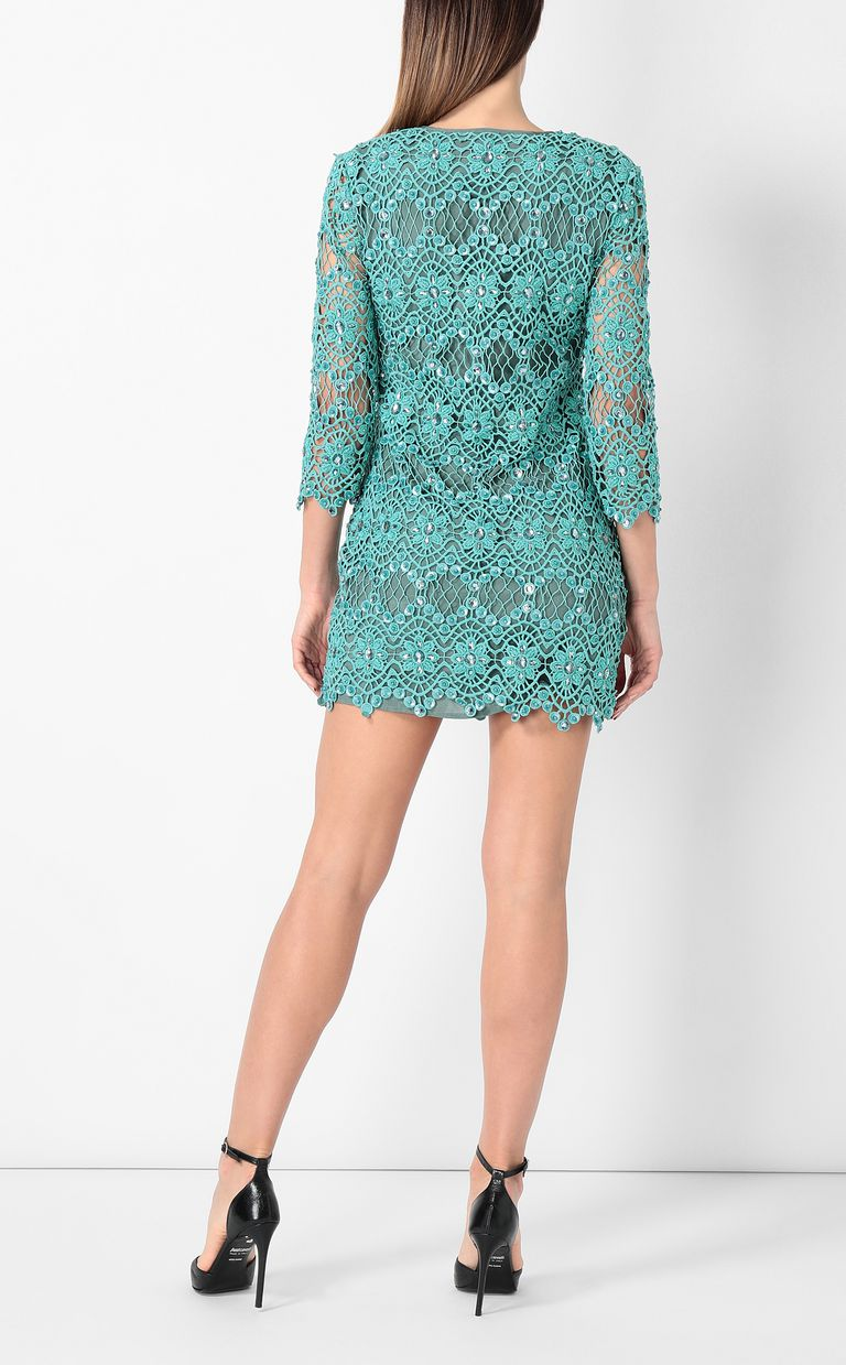 JUST CAVALLI Green macramé dress Dress Woman a