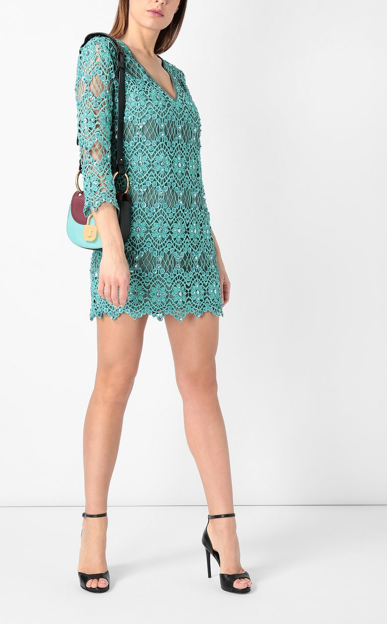 JUST CAVALLI Green macramé dress Dress Woman d