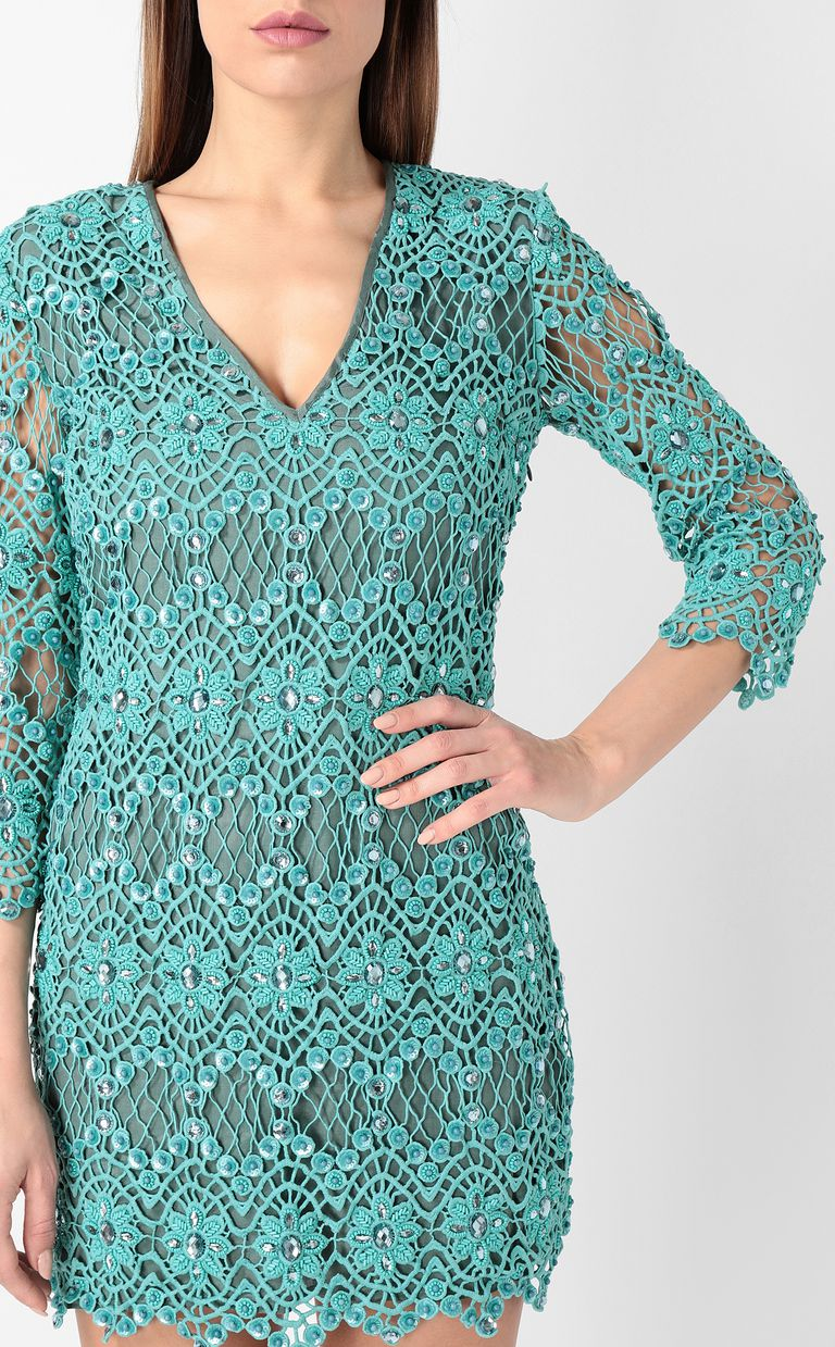 JUST CAVALLI Green macramé dress Dress Woman e