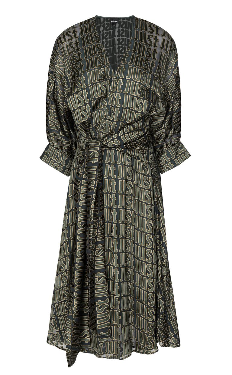 JUST CAVALLI Devoré dress with logo Dress Woman f