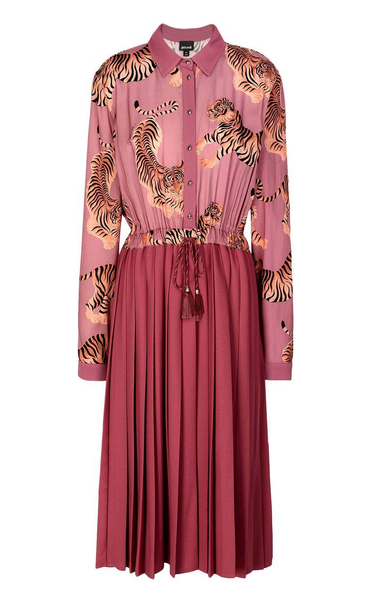 """JUST CAVALLI Pleated """"Chasing-Tiger"""" print dress Dress Woman f"""