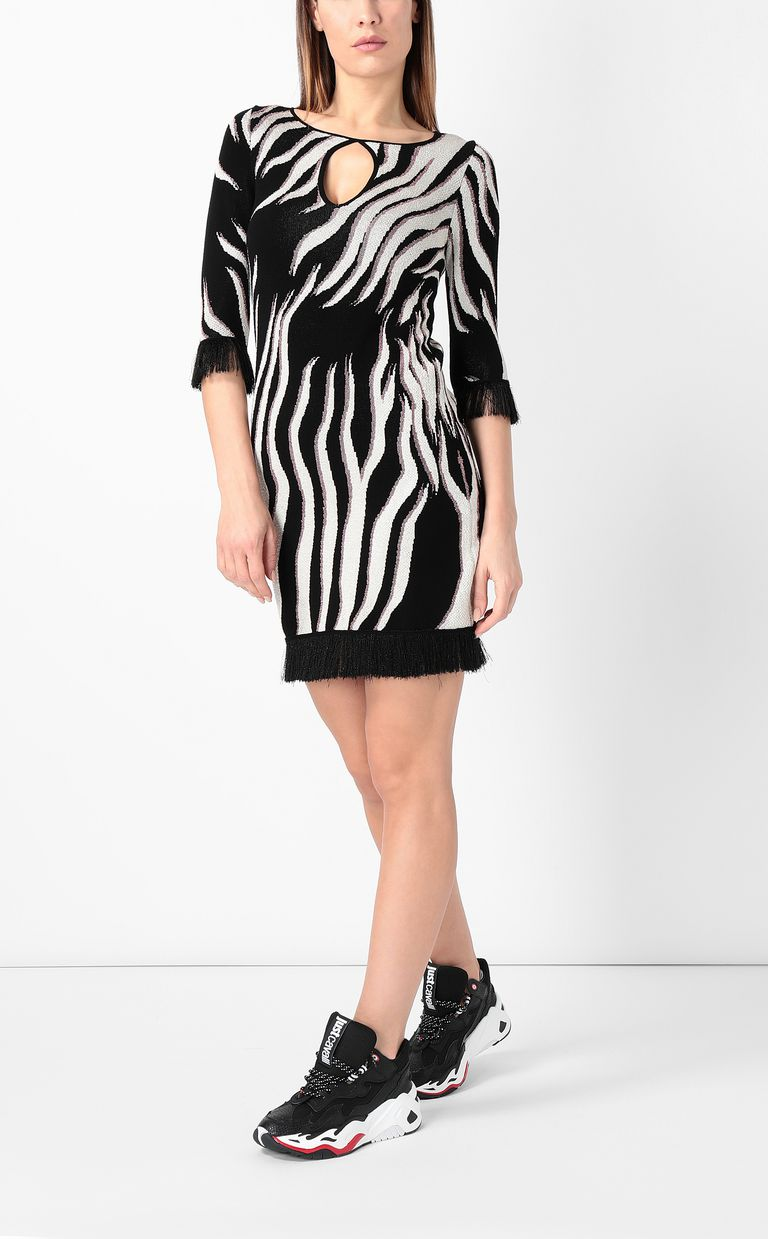 "JUST CAVALLI ""Glowing Zebra"" print dress Dress Woman r"