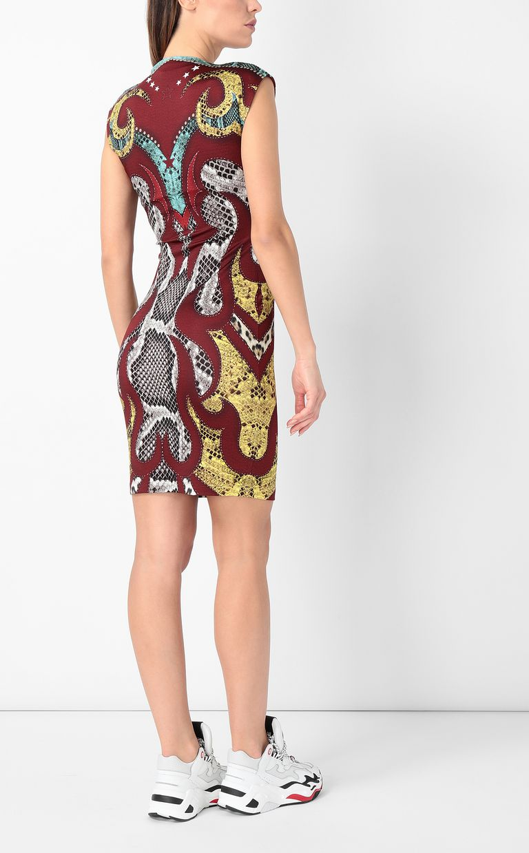 "JUST CAVALLI Dress with ""Rebel Cow"" print Dress Woman a"