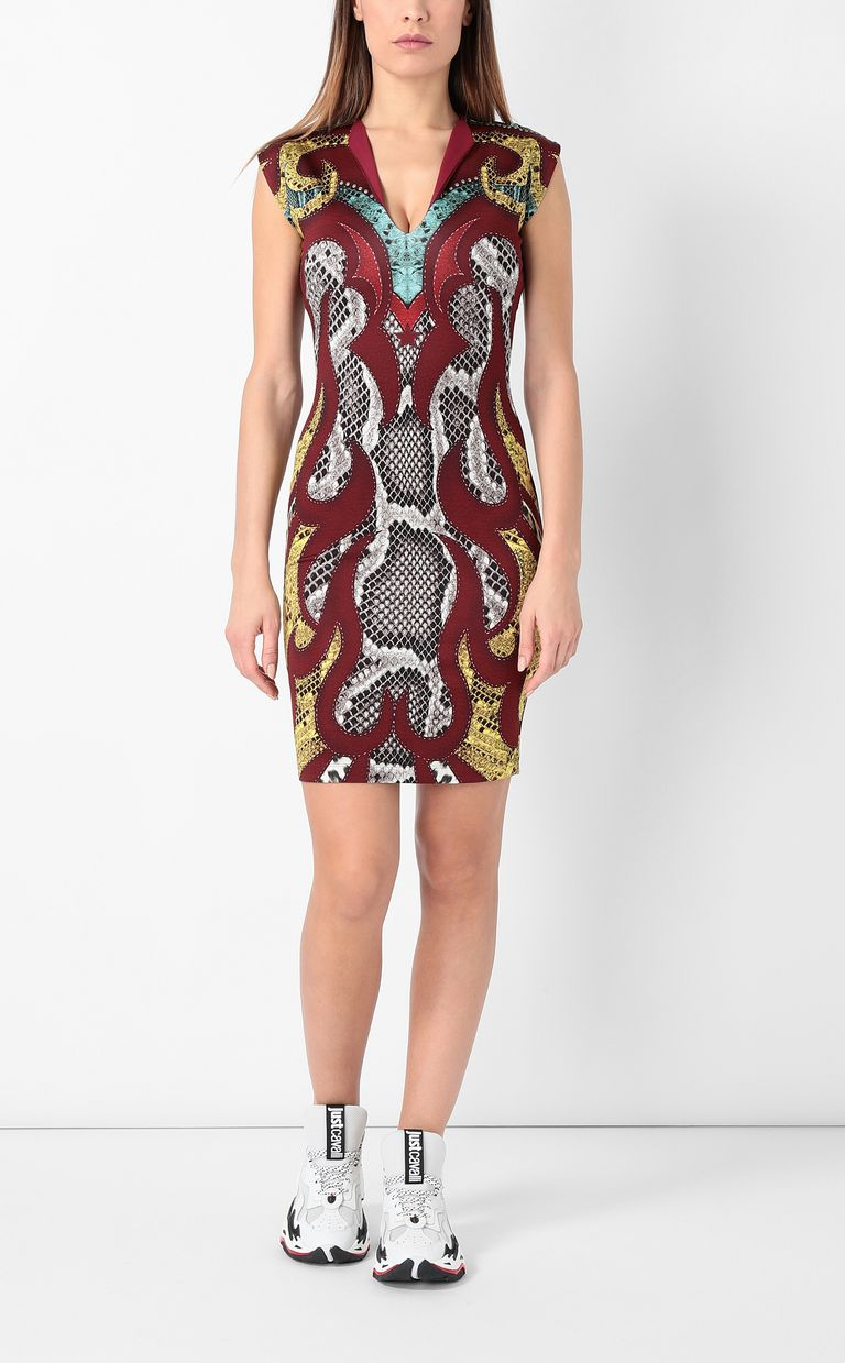 "JUST CAVALLI Dress with ""Rebel Cow"" print Dress Woman r"
