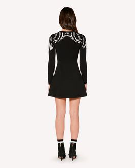 REDValentino Elasticated viscose dress with Wings jacquard
