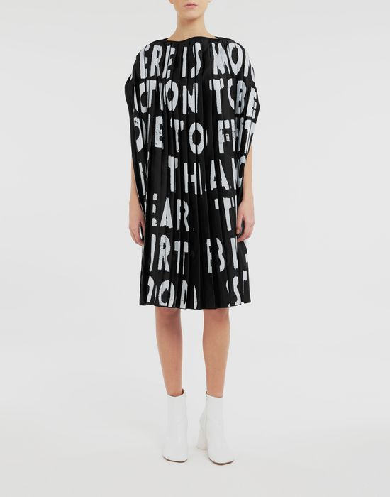 MM6 MAISON MARGIELA Robe plissée Charity AIDS Robe courte [*** pickupInStoreShipping_info ***] r