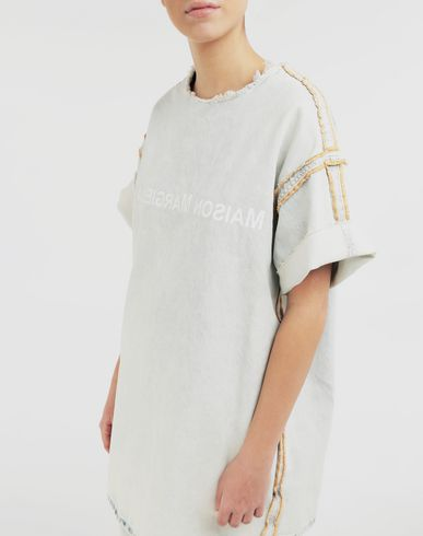 DRESSES Logo T-shirt dress Blue