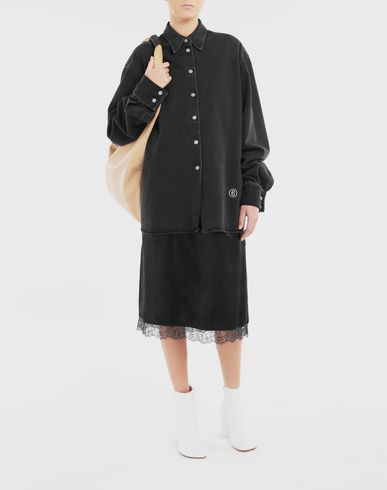 DRESSES Multi-wear spliced shirt-dress Black