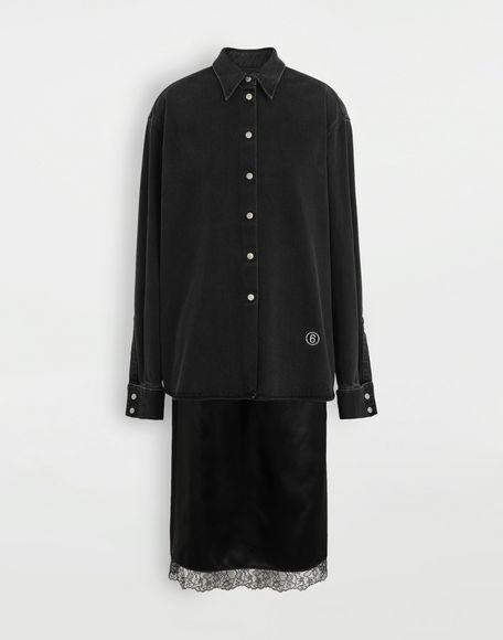 MM6 MAISON MARGIELA Multi-wear spliced shirt-dress Dress Woman f