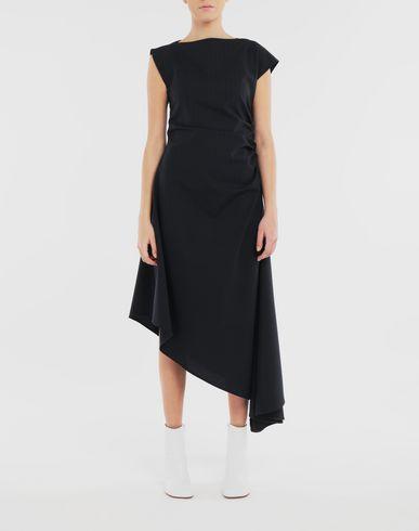 ワンピース・ドレス アシンメトリック ドレス ブルー