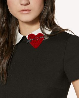 REDValentino Cady Tech dress with heart patch detail