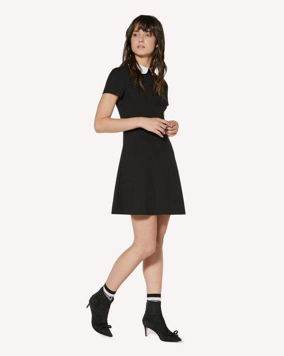 REDValentino Technical cady dress with heart patch detail