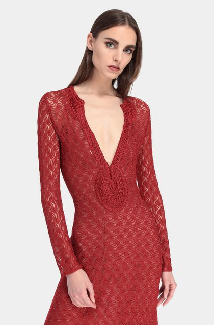 MISSONI Long dress Red Woman - Front