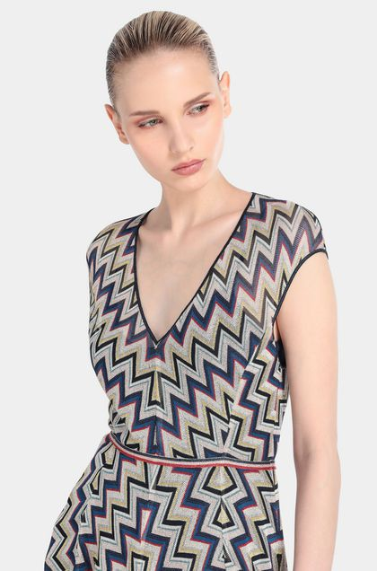 MISSONI Long dress Blue Woman - Front