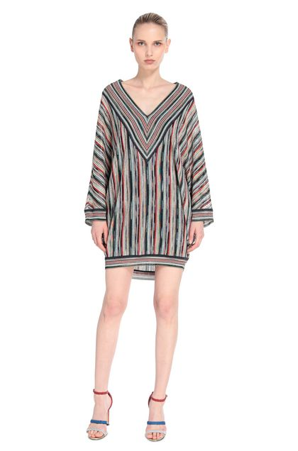 MISSONI Minidress Dark blue Woman - Back