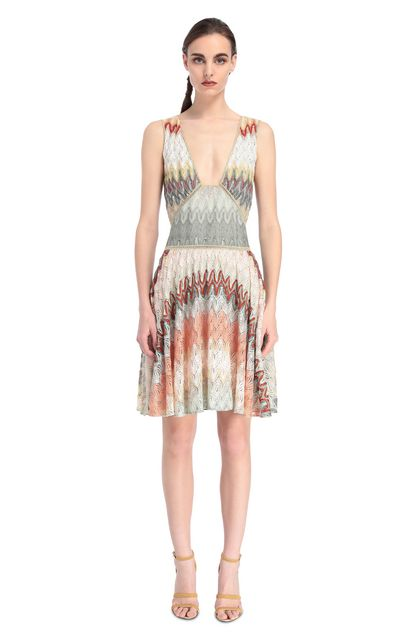 MISSONI Dress Light green Woman - Back