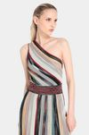 MISSONI Long dress Woman, Rear view