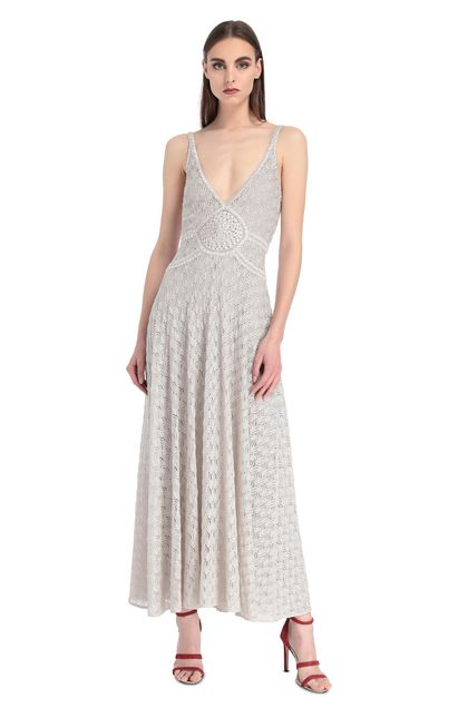 MISSONI Dress Light grey Woman - Back
