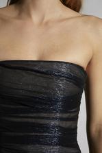 DSQUARED2 Silk Voile Strapless Lamè Dress Dress Woman