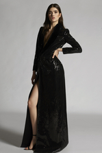 DSQUARED2 Sequinded Robe Night Dress Dress Woman