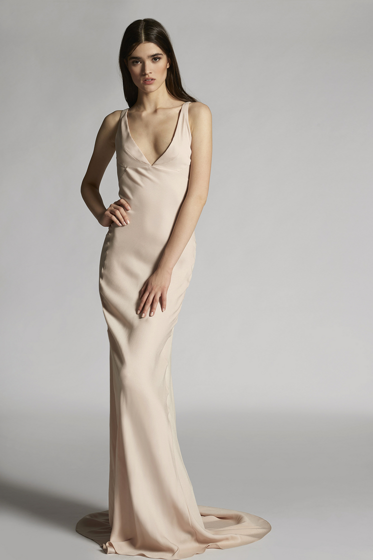 DSQUARED2 Stretch Viscose Crepe Lorraine Sleeveless Gown Dress Woman