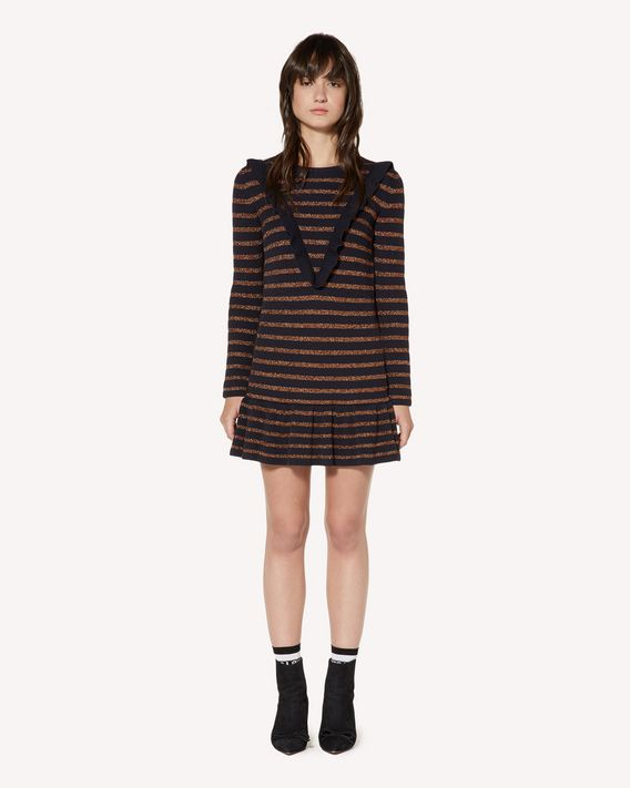 REDValentino Cotton and lurex dress with ruffle detail