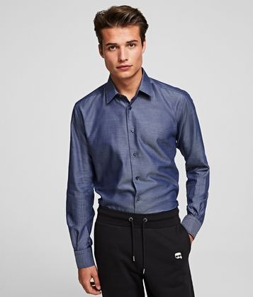 KARL LAGERFELD SPREAD COLLAR SHIRT