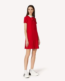 REDValentino Crepe Envers Satin dress with collar detail