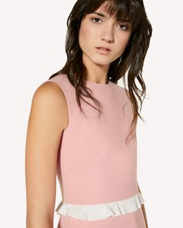 REDValentino Technical cady dress with ruffle detailing
