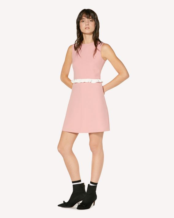 REDValentino Ruffle detail cady tech dress