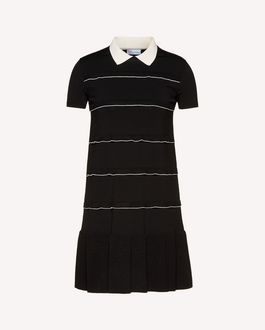 REDValentino Knit Dress Woman SR3KDA784G9 0MG a