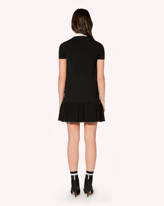 REDValentino Elasticated-viscose dress with ruffle detail