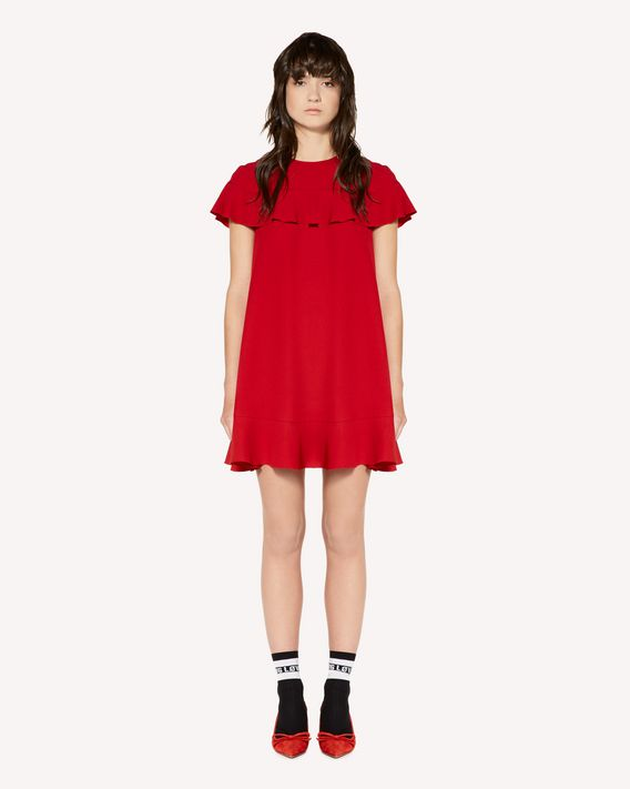 REDValentino Crepe envers satin dress with ruffle detail
