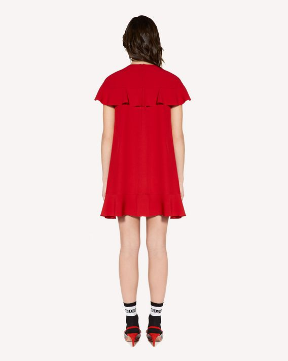 REDValentino Ruffle detail crepe envers satin dress