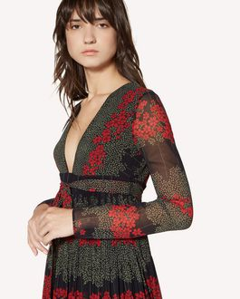 REDValentino Dreaming Peony printed muslin dress