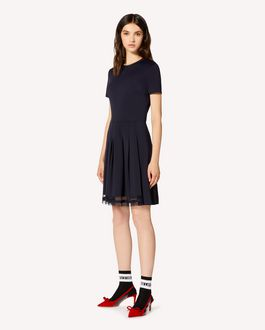 REDValentino Pleated Jersey dress