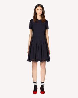 REDValentino Jersey pleated dress